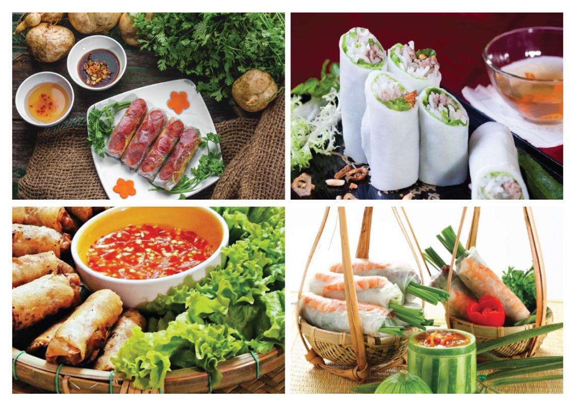 Người ăn tìm đến những món cuốn không chỉ muốn tìm đến những món ăn ngon mà còn muốn tìm cho mình những khám phá thú vị của sự kết hợp giữa các hương vị tươi.