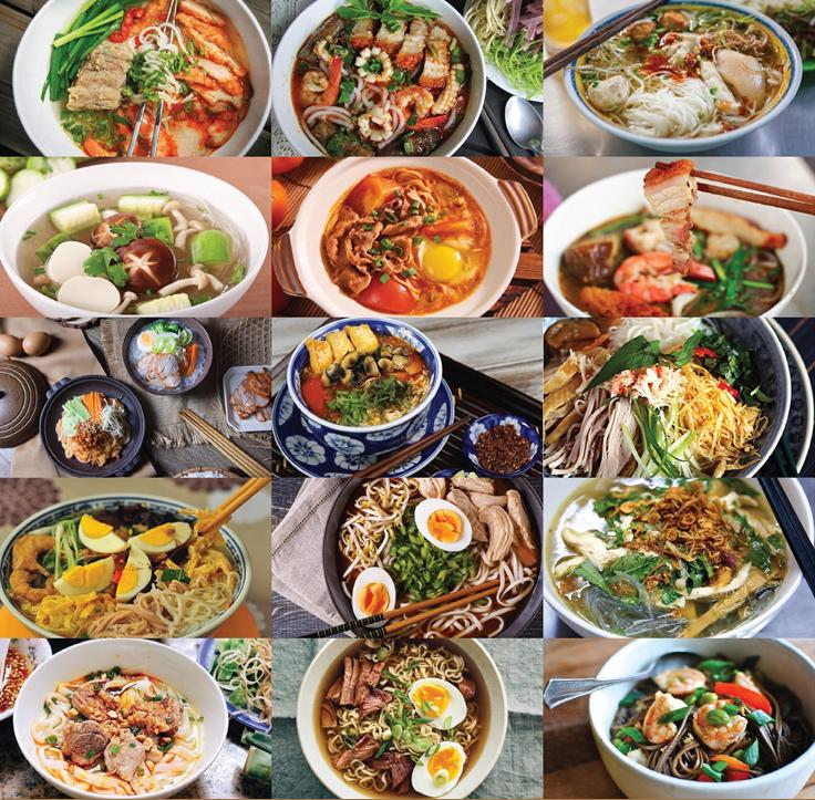 """Có thể nói, hệ thống các món """"sợi và nước"""" của Việt Nam luôn để lại ấn tượng mạnh mẽ đối với du khách trong và ngoài nước."""