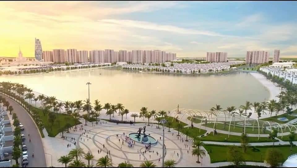 Hồ nước ngọt nhân tạo trải cát trắng của Vinhomes Ocean Park với diện tích lên tới 24.5ha