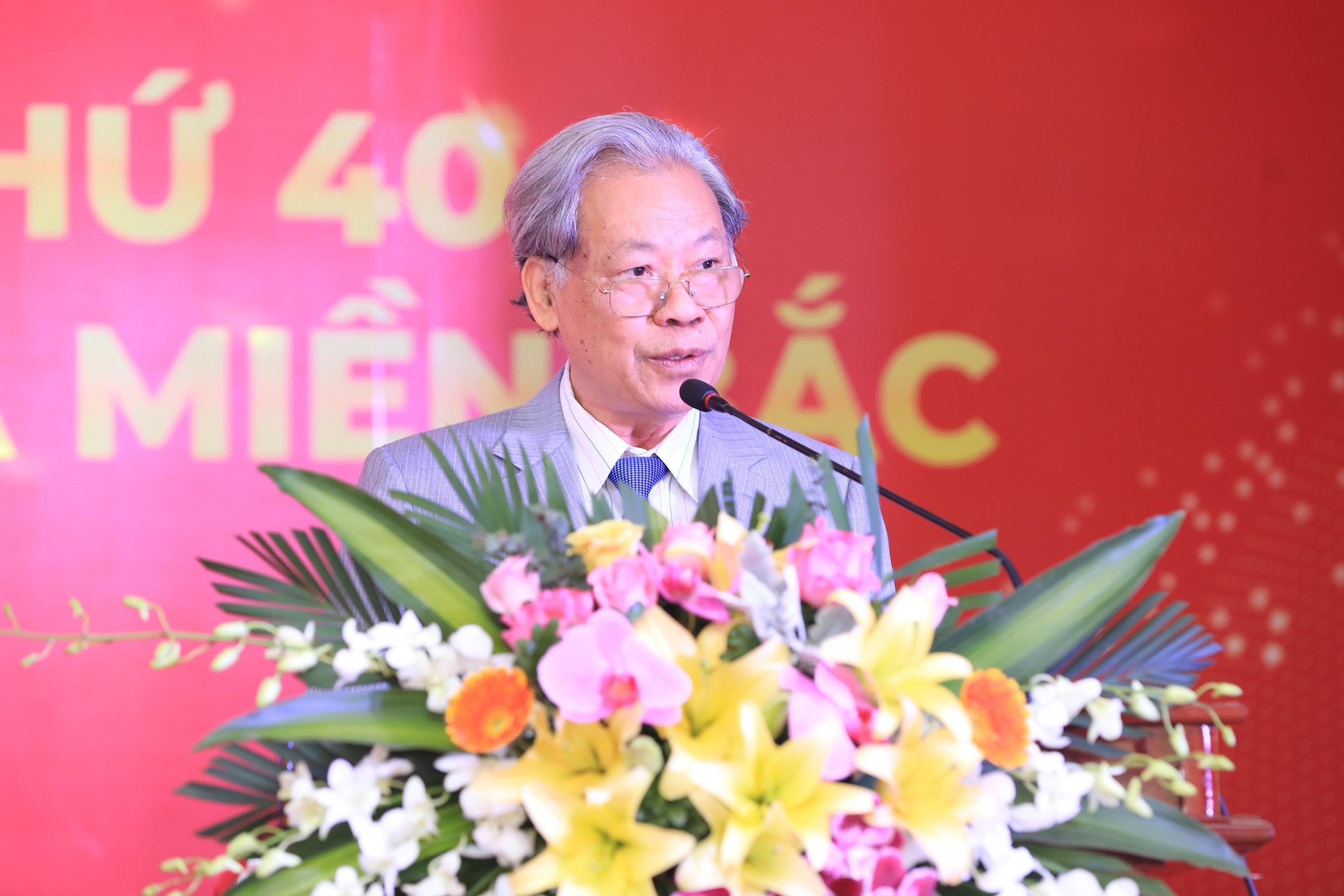 TS. Thang Văn Phúc, chủ tịch TW Hội Kỷ lục Gia Việt Nam phát biểu