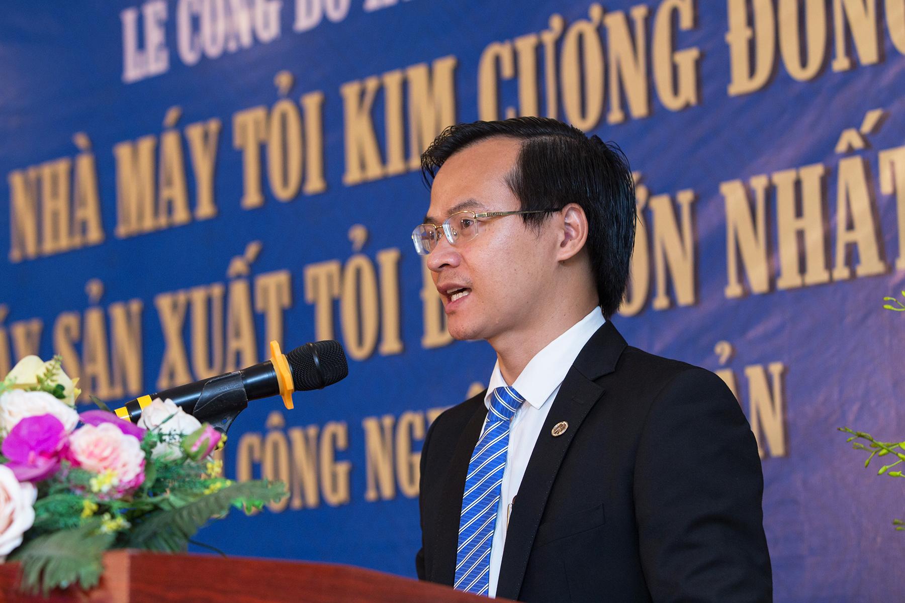 Ông Hoàng Thái Tuấn Anh – Tổng Thư ký Tổ chức Kỷ lục Đông Dương, Trưởng đại diện văn phòng phát triển Kỷ lục miền Bắc đại diện công bố Kỷ lục