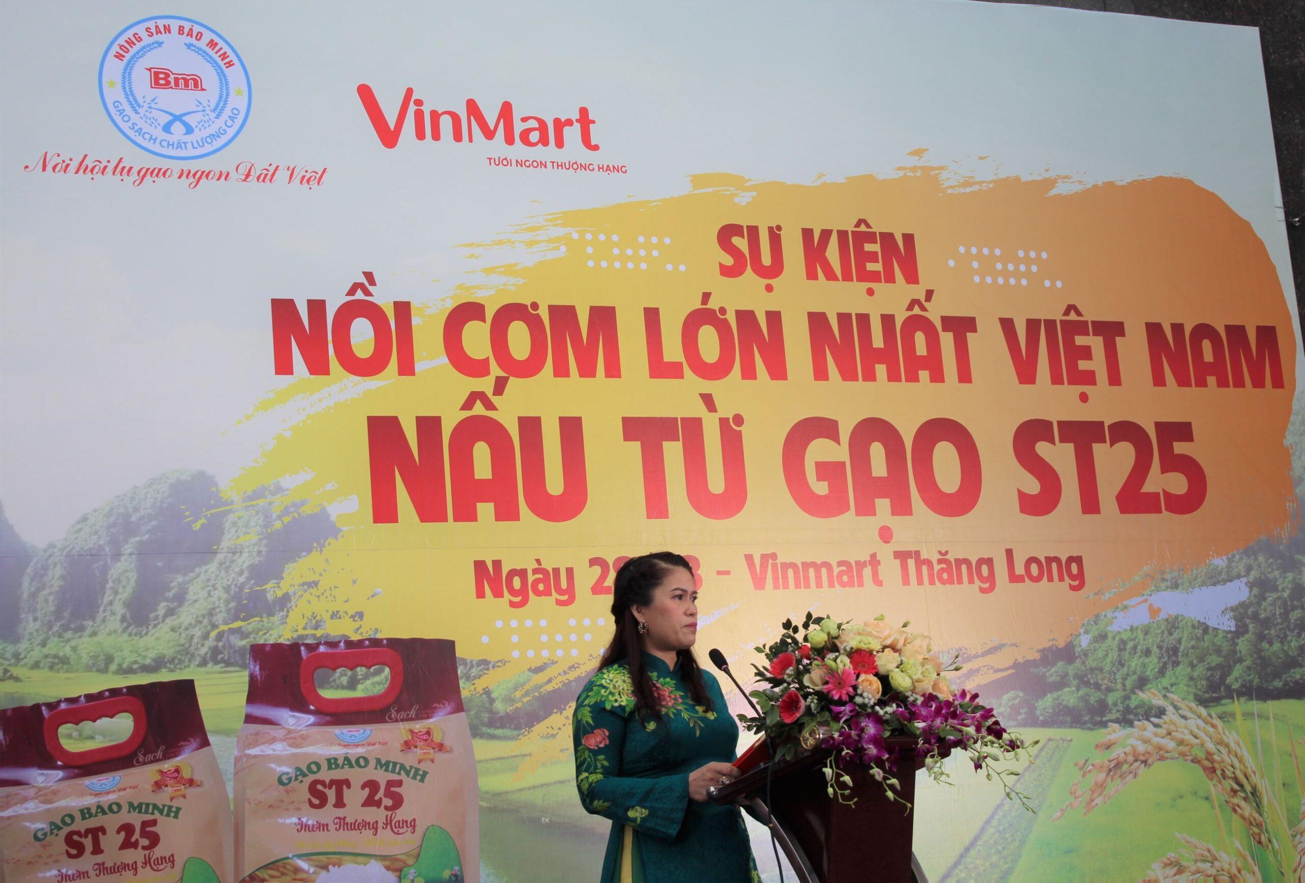 Bà Bùi Hạnh Hiếu - Tổng giám đốc Công ty CP kinh doanh chế biến nông sản Bảo Minh