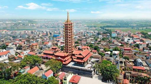 Tháp Đại Bi chùa Thánh Quang, thôn Mẫn Xá, xã Văn Môn, huyện Yên Phong, tỉnh Bắc Ninh.