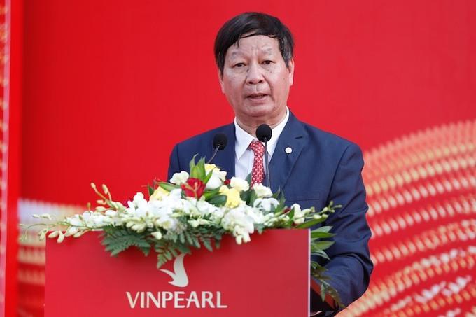 Ông Lê Khắc Hiệp, Phó chủ tịch tập đoàn Vingroup phát biểu tại sự kiện.