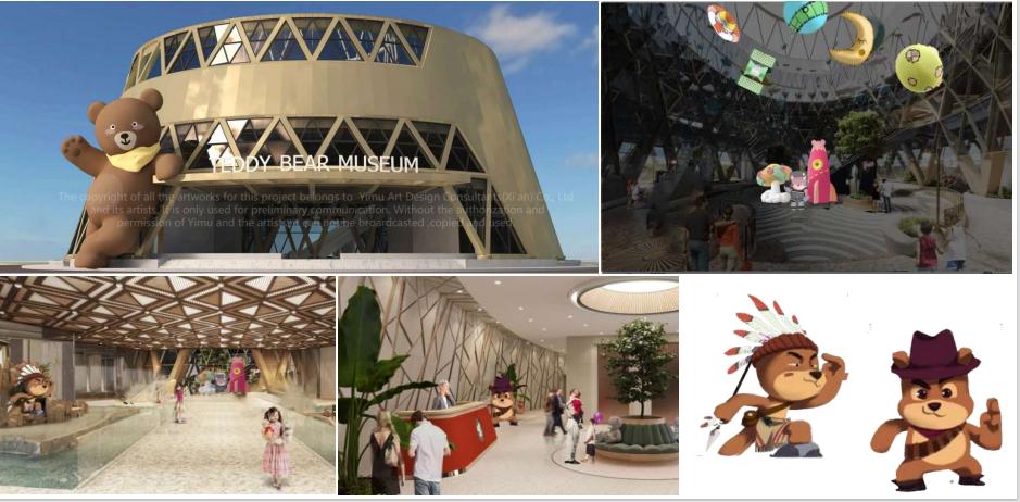 """Tòa nhà có kiến trúc hình khối tròn mô phỏng chiến bánh donut độc đáo, sở hữu thiết kế hiện đại và nghệ thuật với kết cấu chuỗi hình thoi đan xen. Đặc biệt tạo dấu ấn ngay bên ngoài """"nhà gấu"""" là bức tượng Teddy Bear khổng lồ đang vẫy tay chào đón du khách với chiều cao ấn tượng 15m, tương đương với kích thước tòa nhà. Đây là biểu tượng đặc trưng của mọi Teddy Bear Museum trên thế giới, thu hút mọi du khách từ khoảng cách hàng trăm mét."""