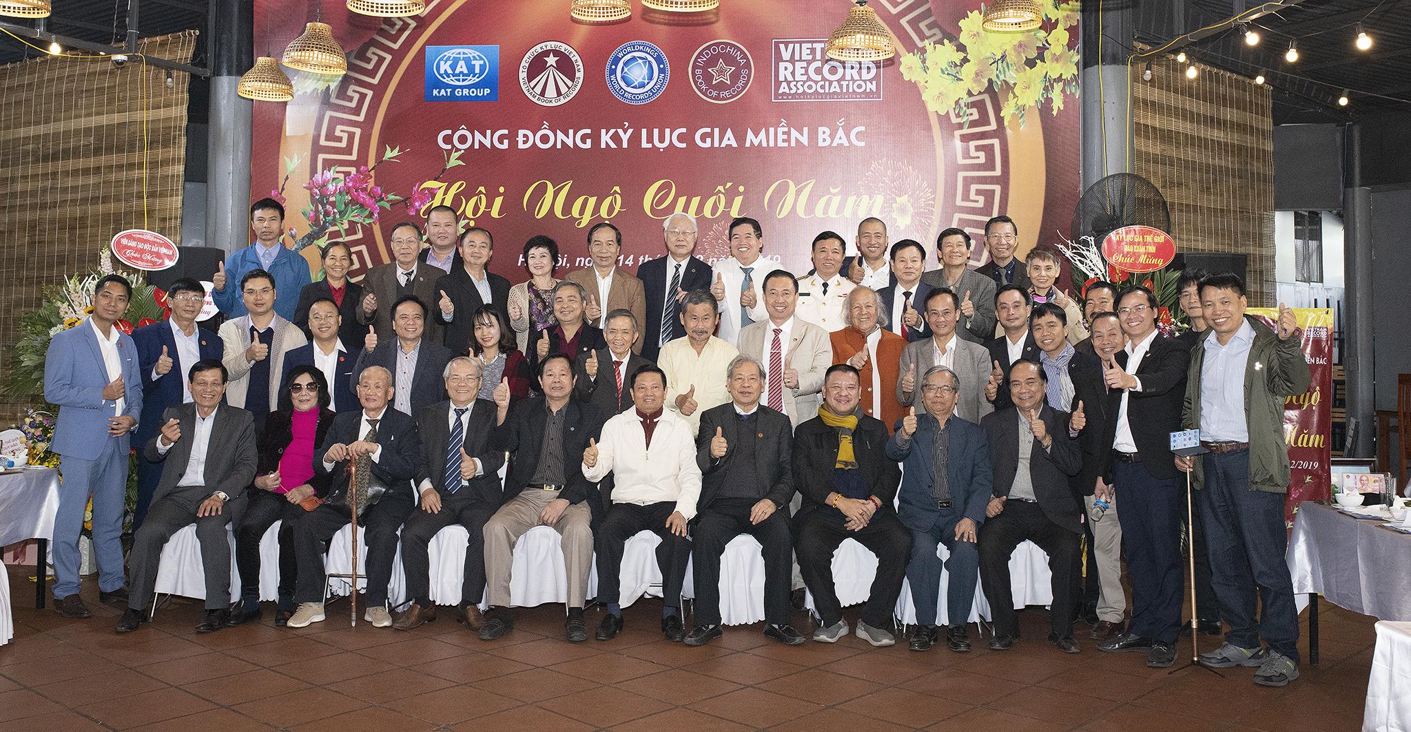 Buổi Hội ngộ, gặp mặt cuối năm cộng đồng Kỷ lục Gia Miền Bắc năm 2019 do VP Kỷ lục Miền Bắc tổ chức.