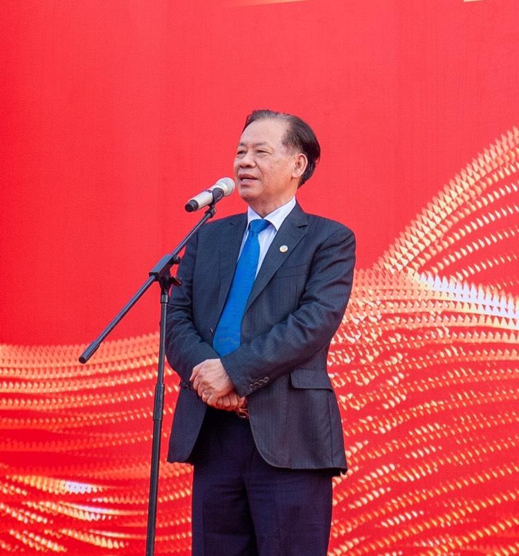 TS. Thang Văn Phúc - Nguyên thứ trưởng Bộ Nội Vụ, chủ tịch TW Hội Kỷ lục Gia Việt Nam phát biểu chúc mừng Tập đoàn Vingroup.