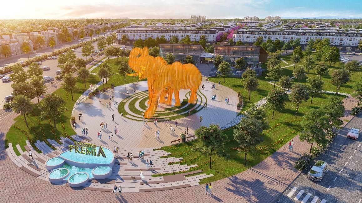"""Công trình """"Song tượng Thịnh vượng"""" - Biểu tượng phồn vinh của Tây Nguyên, công trình Voi biểu tượng lớn chưa từng có tại Việt Nam."""